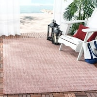 "Safavieh Indoor/ Outdoor Courtyard Red/ Beige Rug - 5'3"" x 7'7"""