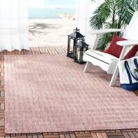 Safavieh Indoor/ Outdoor Courtyard Red/ Beige Rug - 5' 3 x 7' 7