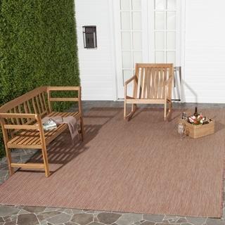 Safavieh Indoor/ Outdoor Courtyard Red/ Beige Rug (6' 7 x 9' 6)