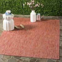 Safavieh Indoor/ Outdoor Courtyard Red/ Red Rug - 5' 3 x 7' 7