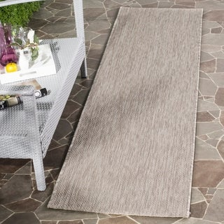 Safavieh Indoor/ Outdoor Courtyard Grey/ Grey Rug (5' 3 x 7' 7)