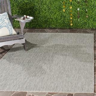Safavieh Indoor/ Outdoor Courtyard Grey/ Grey Rug (6' 7 x 9' 6)