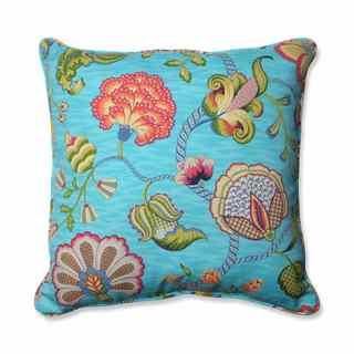 Pillow Perfect Outdoor/ Indoor Arabella Caribbean Blue 25-inch Floor Pillow
