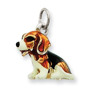 Versil Sterling Silver Enameled Small Beagle Charm
