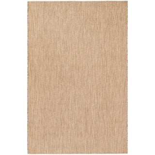 Safavieh Indoor/ Outdoor Courtyard Natural/ Cream Rug (5' 3 x 7' 7)