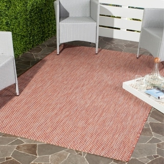 Safavieh Indoor/ Outdoor Courtyard Red/ Beige Rug (6' 7 x 9' 6)