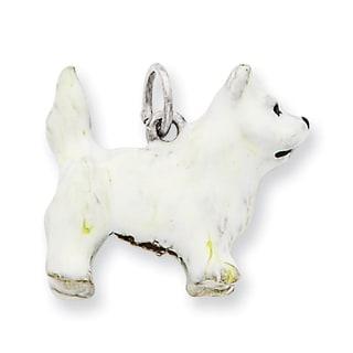 Versil Sterling Silver Enameled West Highland Terrier Charm