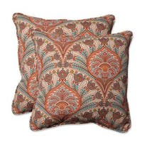 Pillow Perfect Outdoor/ Indoor Crescent Beach Cayenne 18.5-inch Throw Pillow (Set of 2)