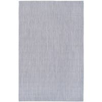 Safavieh Indoor/ Outdoor Courtyard Grey/ Navy Rug - 6' 7 x 9' 6