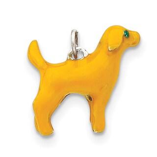 Versil Sterling Silver Enameled Yellow Labrador Charm