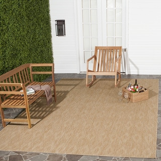 Safavieh Indoor/ Outdoor Courtyard Natural/ Natural Rug (5' 3 x 7' 7)