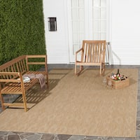 Safavieh Indoor/ Outdoor Courtyard Natural/ Natural Rug - 5'3 x 7'7