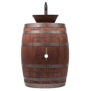 Premier Copper Products Wine Barrel Whiskey Finish Vanity Package with 14-inch Square Vessel Sink and Vessel Filler Faucet