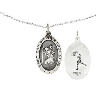 Versil Sterling Silver St. Christopher Basketball Medal