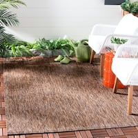 Safavieh Indoor/ Outdoor Courtyard Brown/ Brown Rug - 6' 7 x 9' 6