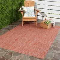 """Safavieh Indoor/ Outdoor Courtyard Red/ Red Rug - 5'3"""" x 7'7"""""""