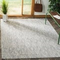 Safavieh Indoor/ Outdoor Courtyard Grey/ Grey Rug (6' 7 x 9' 6)