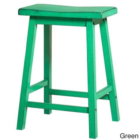 Gaucho Antique Green Bar Stool (Set of 2)
