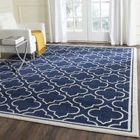 Safavieh Indoor/ Outdoor Amherst Navy/ Ivory Rug - 10' x 14'