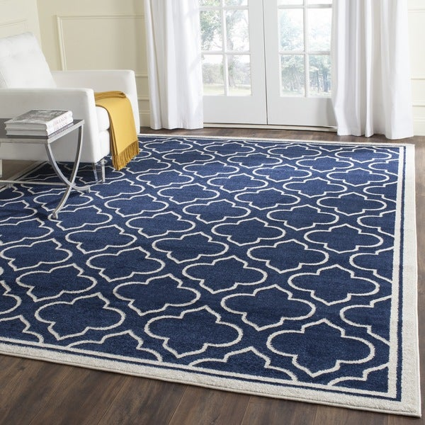 Shop Safavieh Indoor Outdoor Amherst Navy Ivory Rug 10