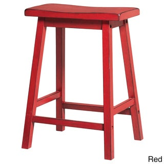 Gaucho Antique Red Counter Height Stool (Set of 2)