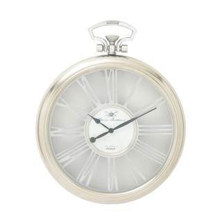 Round Aluminum Glass Wall Clock