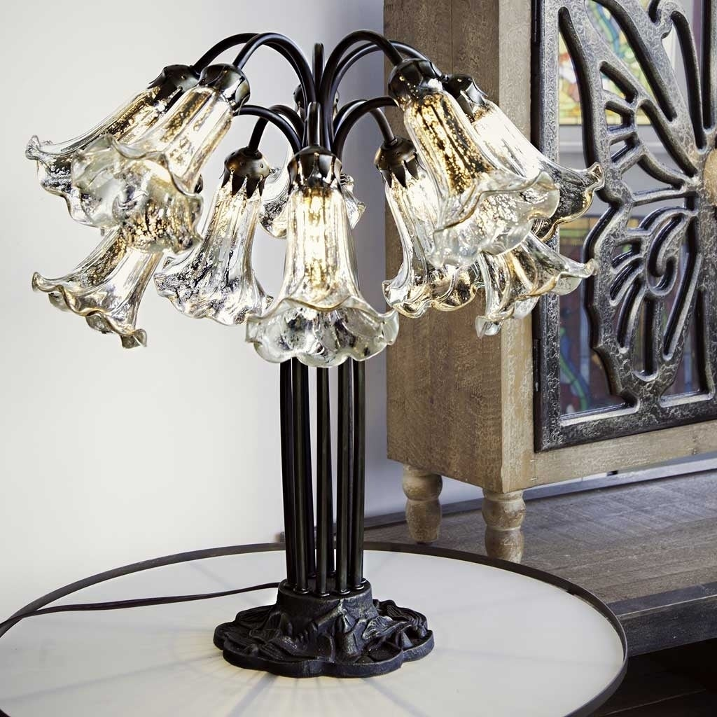 Gracewood Hollow Filloux 21-inch Silver Mercury Glass 10-Lily Downlight Table Lamp