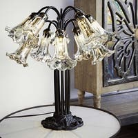 21-inch Silver Mercury Glass 10 Lily Downlight Table Lamp