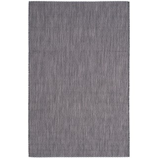 Safavieh Indoor/ Outdoor Courtyard Black/ Beige Rug (9' x 12')