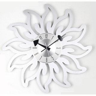 Mid Century Modern Sunshine Blossoms Clock