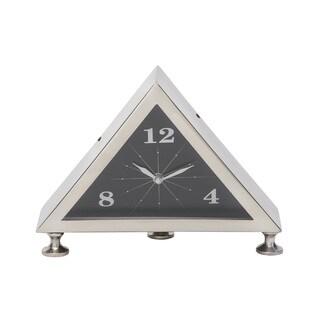 Silver Metal 7-inch Table Clock