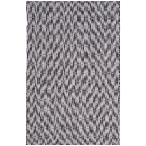 Safavieh Indoor/ Outdoor Courtyard Black/ Beige Rug - 9' x 12'