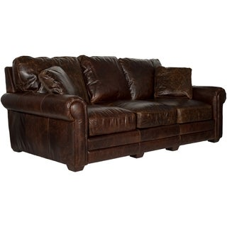 Safavieh Couture Collection Walter Cocoa Leather Sofa