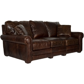 Safavieh Couture High Line Collection Walter Cocoa Leather Sofa