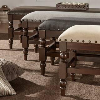 Flatiron Burnished Dark Oak Nailhead Trim Dining Bench by iNSPIRE Q Classic https://ak1.ostkcdn.com/images/products/11178808/P18171895.jpg?impolicy=medium