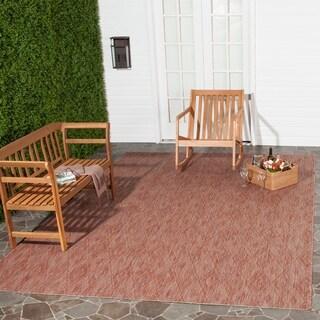 Safavieh Indoor/ Outdoor Courtyard Red/ Red Rug (8' x 11')