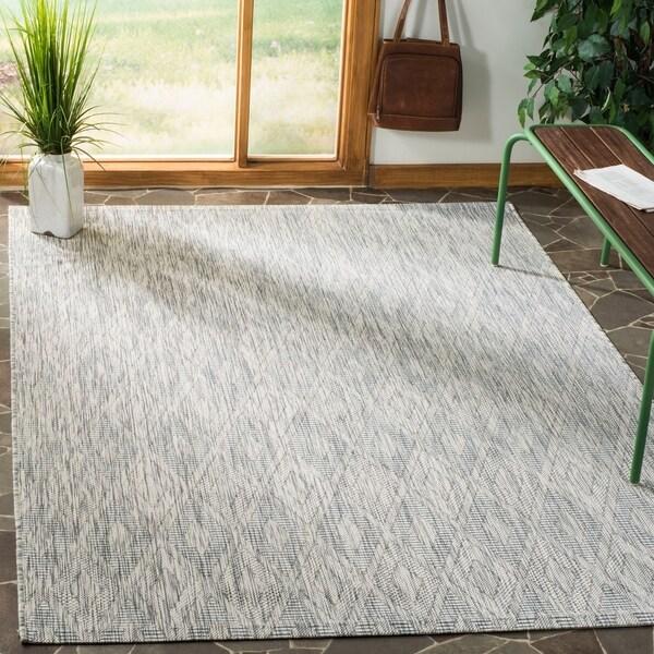 Safavieh Indoor/ Outdoor Courtyard Grey/ Grey Rug - 8' x 11'