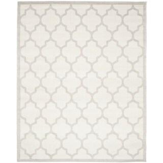 Safavieh Indoor/ Outdoor Amherst Beige/ Light Grey Rug (11' x 15')