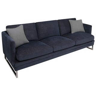 Safavieh Couture High Line Collection Kensett Blue/ Grey Pine Sofa