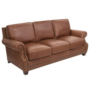 Safavieh Couture Collection Brayton Coffee Leather Sofa