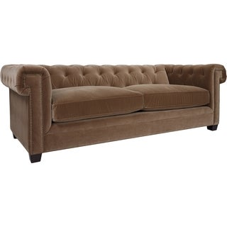 Safavieh Couture High Line Collection Belmont Tufted Cotton Brown Sofa