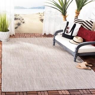 Safavieh Indoor/ Outdoor Courtyard Beige/ Brown Rug (9' x 12')