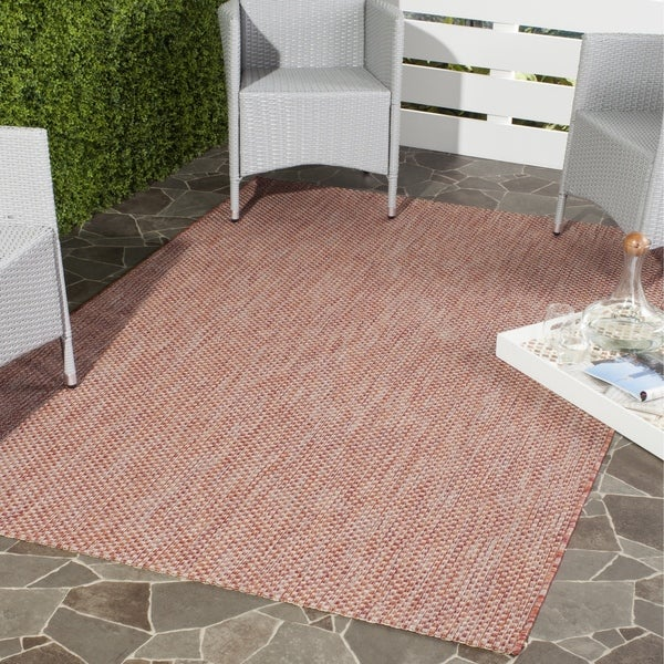 Safavieh Indoor/ Outdoor Courtyard Red/ Beige Rug - 8' x 11'