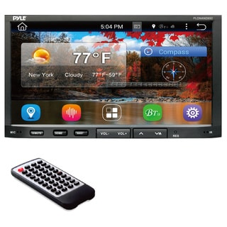 Pyle PLDNAND692 Double DIN GPS/ Bluetooth/ AM/FM Android Headunit with 7-inch Touchscreen and Wi-Fi Web Browsing