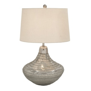 Silver Glass Wire Weaved Table Lamp