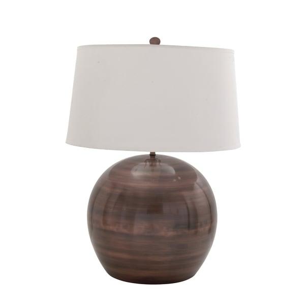 Brown Metal Table Lamp