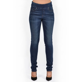 Women's Distressed Rinse Wash Slim Leg Denim