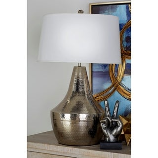 Metal Hammered Table Lamp