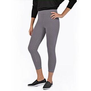 Women's Cropped Length Diamond Pattern Legging