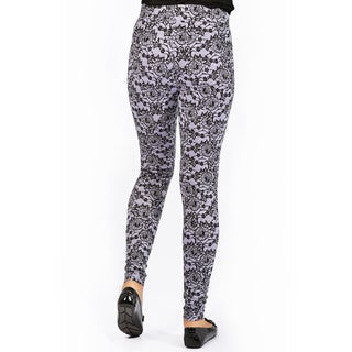 Women's Bluberry Lilac Lace Basic Legging